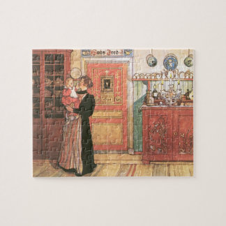 Mother Holding Baby in the Kitchen Jigsaw Puzzle