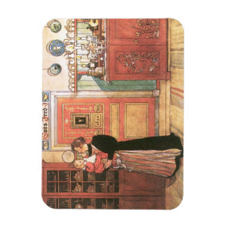 Mother Holding Baby in the Kitchen Vinyl Magnet