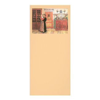 Mother Holding Baby in the Kitchen Full Color Rack Card