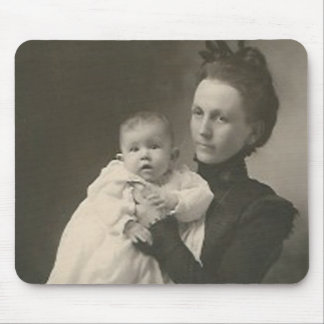 mother holding baby mouse pad