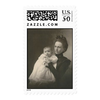 mother holding baby postage