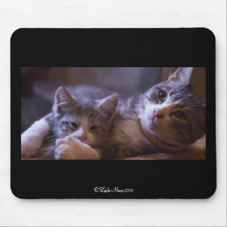 Mother Holding Her Kitten Mousepad