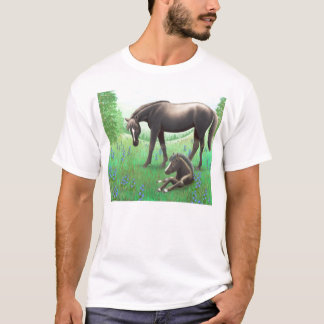 Mother Horse and Her Foal T-Shirt