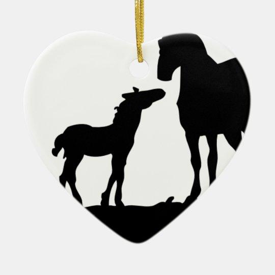 Mother Horse Ceramic Ornament