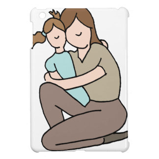 Mother hugging her young daughter iPad mini covers