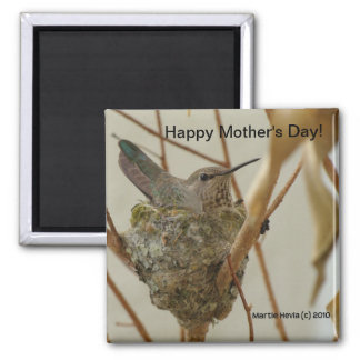 Mother Hummingbird Magnet (Personalize Message)
