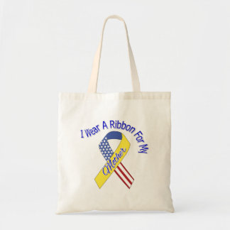 Mother - I Wear A Ribbon Military Patriotic Tote Bag