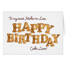 Funny birthday for mother in law cards greeting photo cards mother in law a birthday card for a cookie lover bookmarktalkfo Gallery