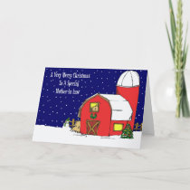 Mother In Law Barn Christmas Card