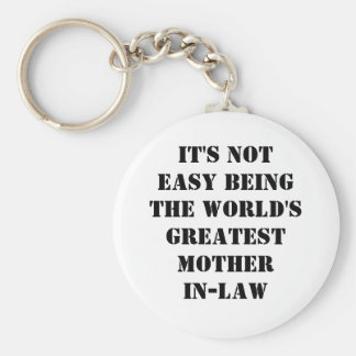 Mother-In-Law Basic Round Button Keychain