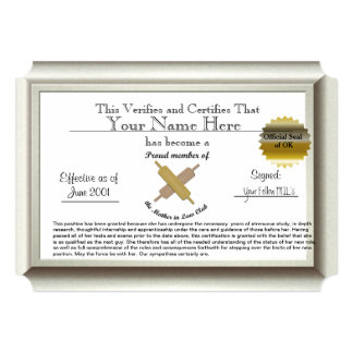 Mother in Law Certificate silver frame- humor Card