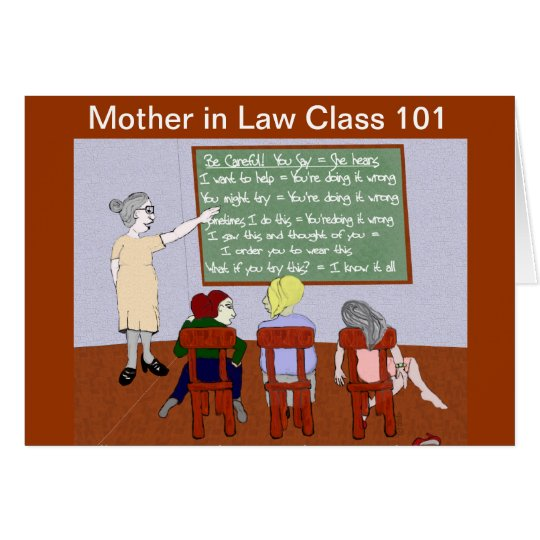 Mother in Law Class 101 Engagement Congrats Card