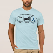 Mother-in-law Eat Sleep Hope - Colon Cancer T-Shirt