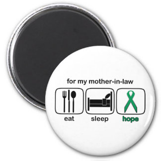 Mother-in-law Eat Sleep Hope - Kidney Cancer Magnet