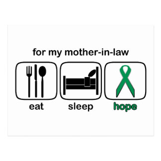 Mother-in-law Eat Sleep Hope - Kidney Cancer Postcard