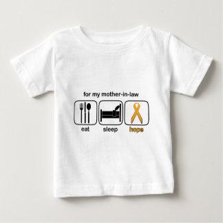Mother-in-law Eat Sleep Hope - Leukemia Tee Shirt
