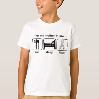 Mother-in-law Eat Sleep Hope - Lung Cancer T-Shirt