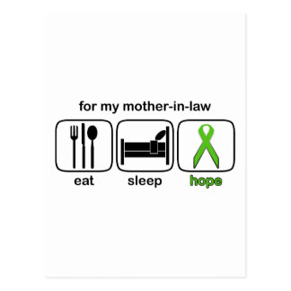 Mother-in-law Eat Sleep Hope - Lymphoma Postcard