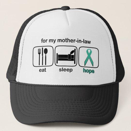 Mother-in-law Eat Sleep Hope - Ovarian Trucker Hat