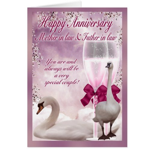 Mother in law & Father in law Anniversary Card