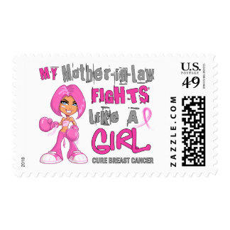Mother-In-Law Fights Like Girl Breast Cancer 42 9 Postage Stamp