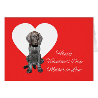 Mother in Law Glossy Grizzly Valentine Puppy Love Card