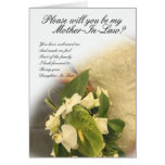 Mother in law greeting card, will you be my mother