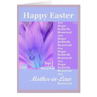 Mother in law easter gifts on zazzle mother in law happy easter with lily card negle Choice Image