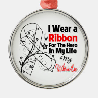 Mother-in-Law Hero in My Life Lung Cancer Christmas Tree Ornaments