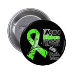 Mother-in-Law Hero in My Life Lymphoma Ribbon Pinback Button