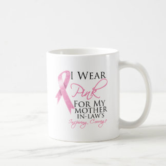 Mother-in-Law Inspiring Courage Breast Cancer Classic White Coffee Mug