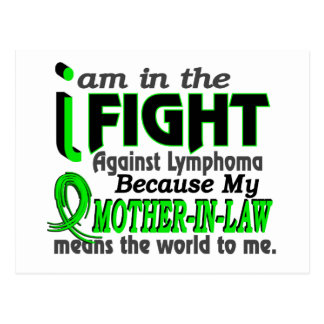 Mother-In-Law Means The World To Me Breast Cancer Postcard