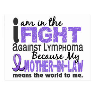 Mother-In-Law Means World To Me H Lymphoma Postcard