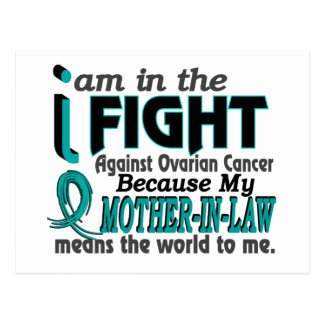 Mother-In-Law Means World To Me Ovarian Cancer Post Cards