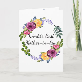 Mother-in-law Mother's Day Card World's Best