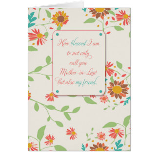 Mother-in-Law Mother's Day, Religious, Sunflowers Card