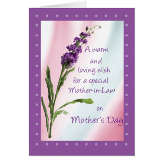 Mother-in-Law, Mother's Day, Religious, Wildflower Card