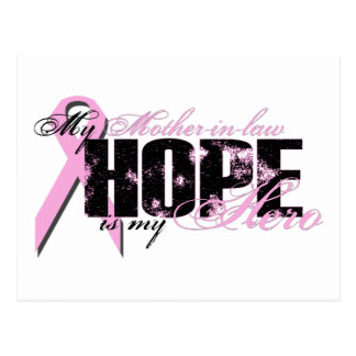 Mother-in-law My Hero - Breast Cancer Hope Postcard