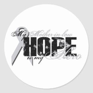 Mother-in-law My Hero - Lung Hope Classic Round Sticker