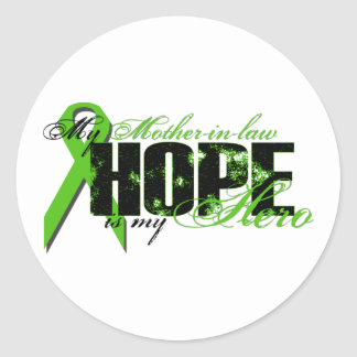 Mother-in-law My Hero - Lymphoma Hope Classic Round Sticker