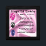 "Mother in Law Poem - 70th Birthday Jewelry Box<br><div class=""desc"">A great gift for a mother in law on her 70th birthday</div>"