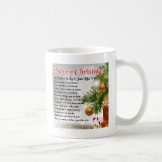 Mother in Law Poem - Christmas design Coffee Mug