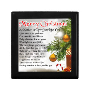 mother in law poem christmas design keepsake box