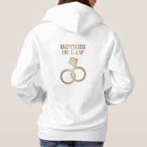 Mother In Law Romantic Gold Rings Wedding Hoodie