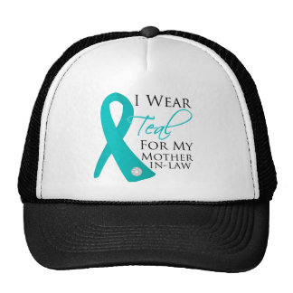 Mother-in-Law - Teal Ribbon Ovarian Cancer Trucker Hat