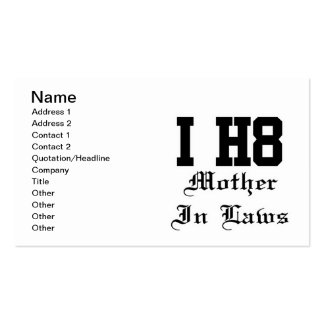 mother in laws business card