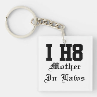 mother in laws Double-Sided square acrylic keychain