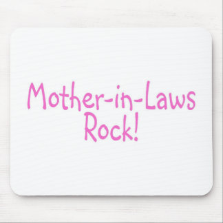 Mother In Laws Rock Pink Mouse Pad