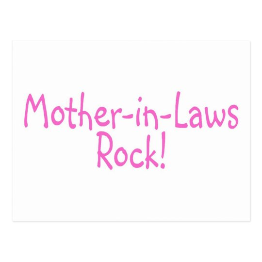 Mother In Laws Rock Pink Postcard