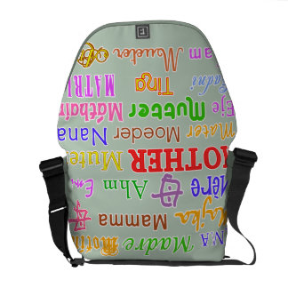 MOTHER in Many Languages Large Bag Messenger Bags
